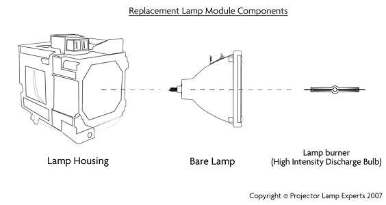Replacement Lamp Module Components